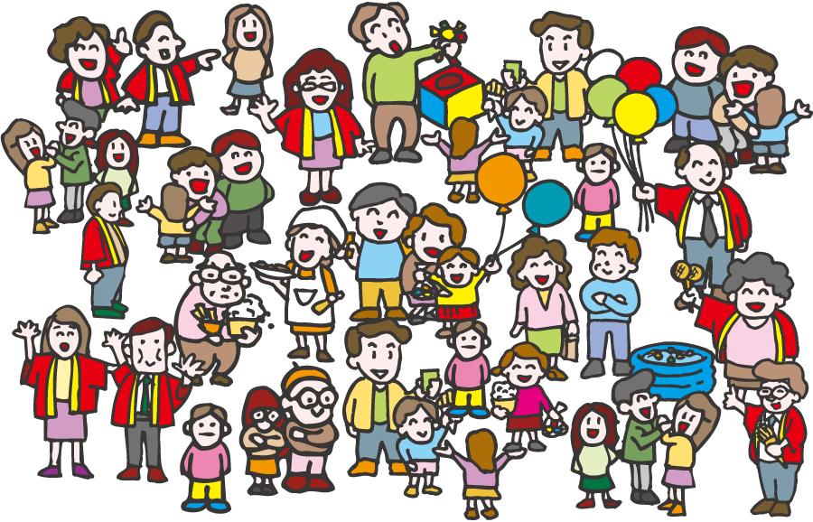 フリーイラスト] イベント会場に集まる人々でアハ体験 - GAHAG | 著作 ...