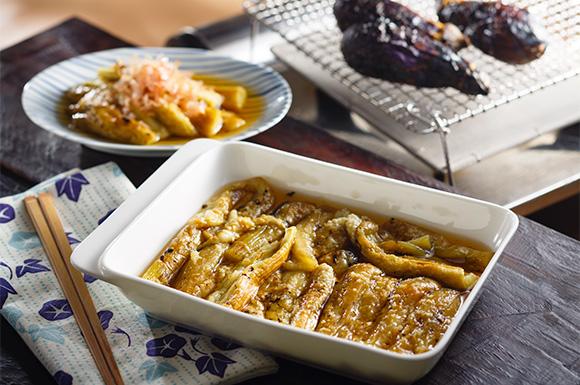 焼きなすのめんつゆ漬け | おいしいレシピ|ヤマキ株式会社