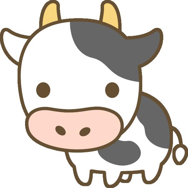 牛のイラスト | 無料フリーイラスト素材集【Frame illust】