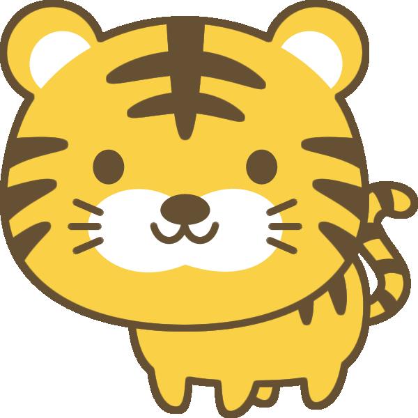 虎(とら)のイラスト | 無料フリーイラスト素材集【Frame illust】