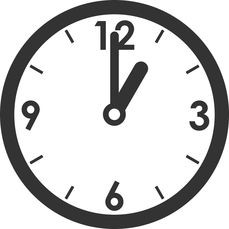 時計(時刻)のイラスト | 無料フリーイラスト素材集【Frame illust】