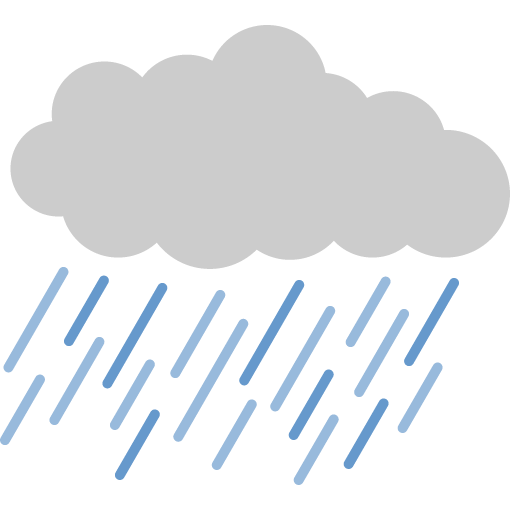 雨雲(雨天)のイラスト | 無料フリーイラスト素材集【Frame illust】