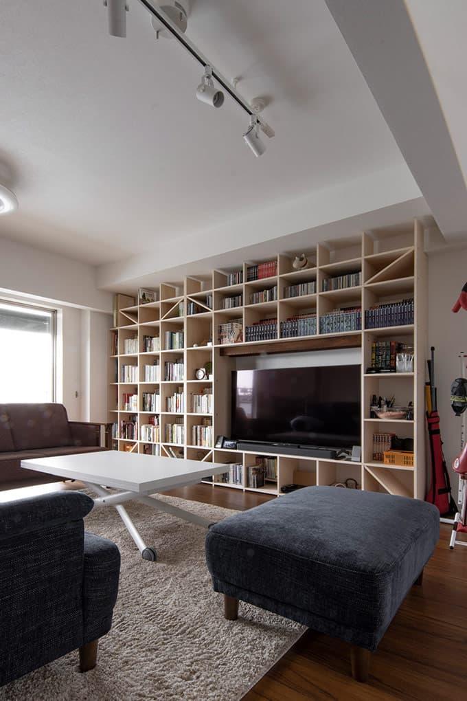 本棚 壁面本棚 シェルフ|壁面収納の通販はマルゲリータ