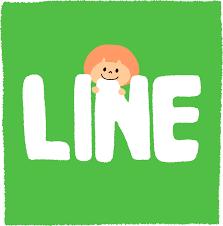 LINEという文字を噛むキャラクター – フリーイラスト素材「いらすとさん」
