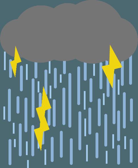 ゲリラ豪雨のイラスト3 | 無料イラスト素材のillalet