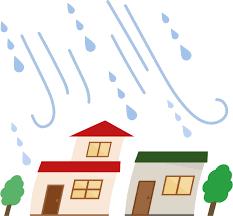 台風と家のイラスト | 無料イラスト素材のillalet