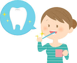 無料イラスト] 歯を磨く女性 - パブリックドメインQ:著作権フリー画像 ...