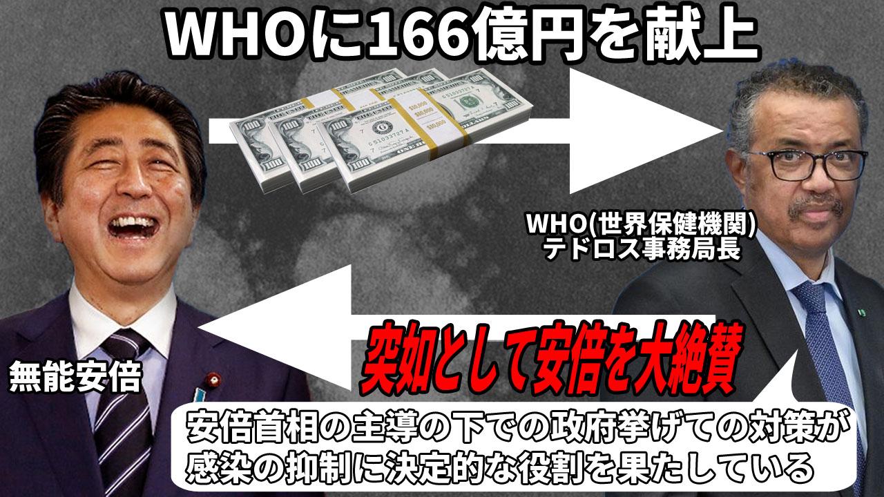 "HOM55 on Twitter: ""WHOのテドロス事務局長が、わざわざ安倍晋三の名前 ..."