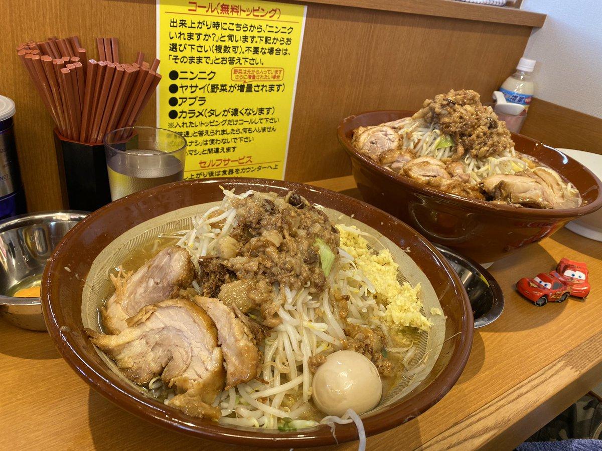 """ダメ太郎 Twitter પર: """"『麺屋豚道場ぶた壱』 小ラーメン 麺増し600g ..."""