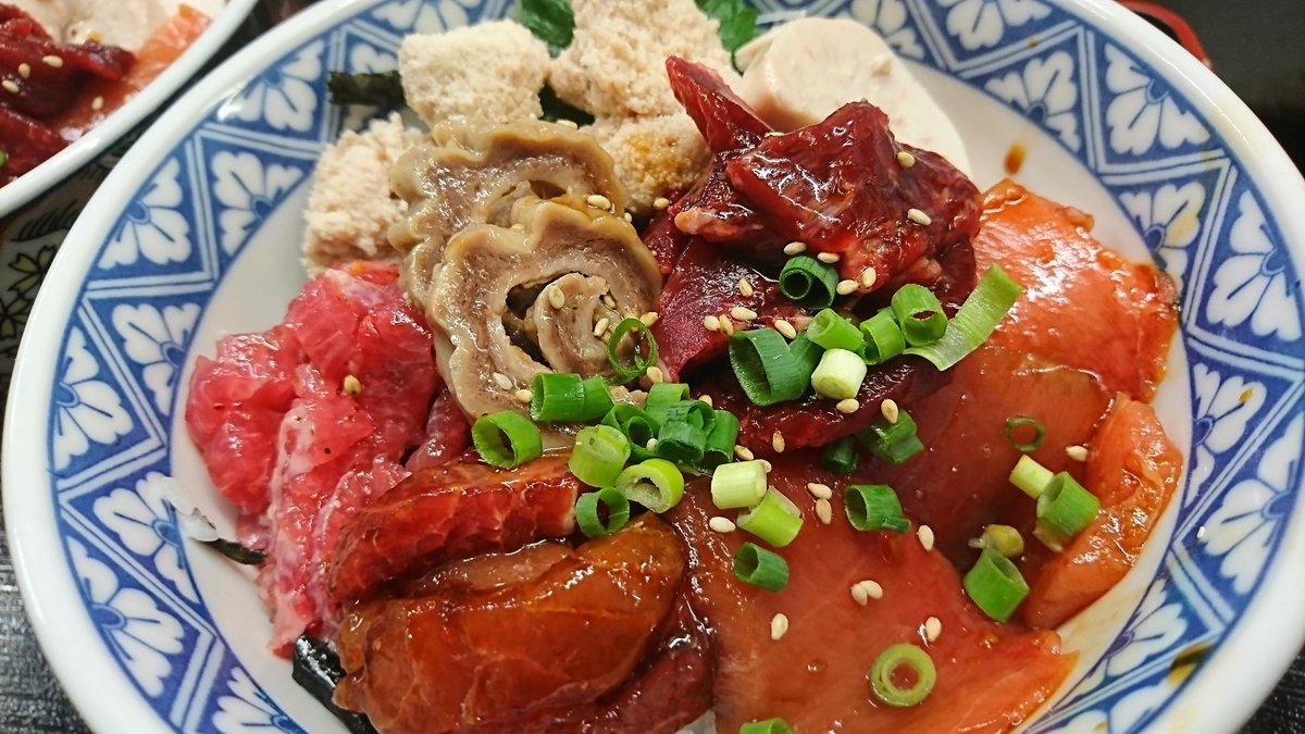"""三浦三崎くろば亭(拓) on Twitter: """"まぐろの珍味丼です。 まぐろの ..."""