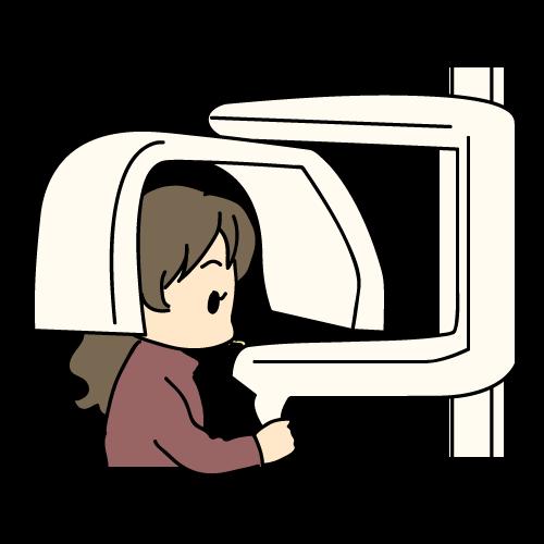 治療の流れ レントゲン撮影(CT撮影)【歯科素材.com】歯医者さん向け ...
