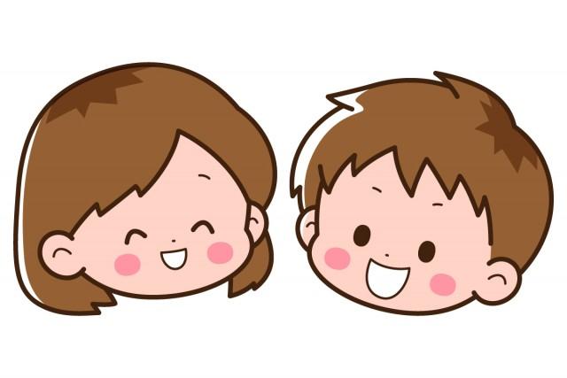笑顔の男の子と女の子 | 無料イラスト素材|素材ラボ