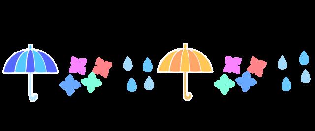 梅雨のアイテムラインのイラスト   無料イラスト素材 素材ラボ