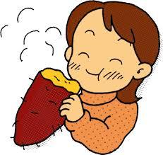 秋のイラストNo.062『美味しい焼き芋』/無料のフリー素材集【花鳥風月】