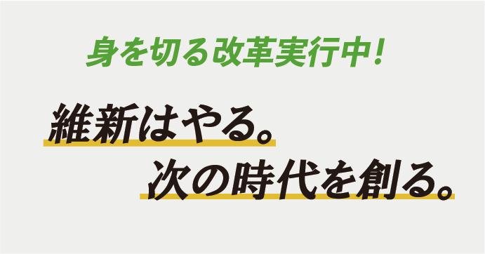 身を切る改革|選挙情報|日本維新の会