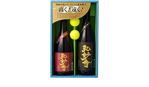 Amazon.co.jp: 井上酒造 ゴルフ寺 弘妙寺 麦・芋焼酎 2本セット(麦 ...