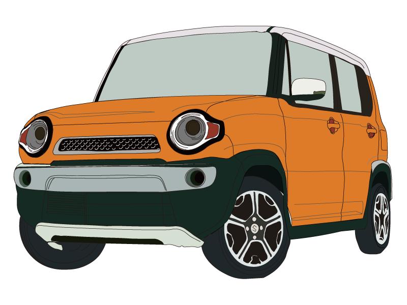 SUV(オレンジ)のフリーイラスト素材(商用利用可) - CAR VALUE