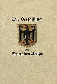 ヴァイマル憲法 - Wikipedia