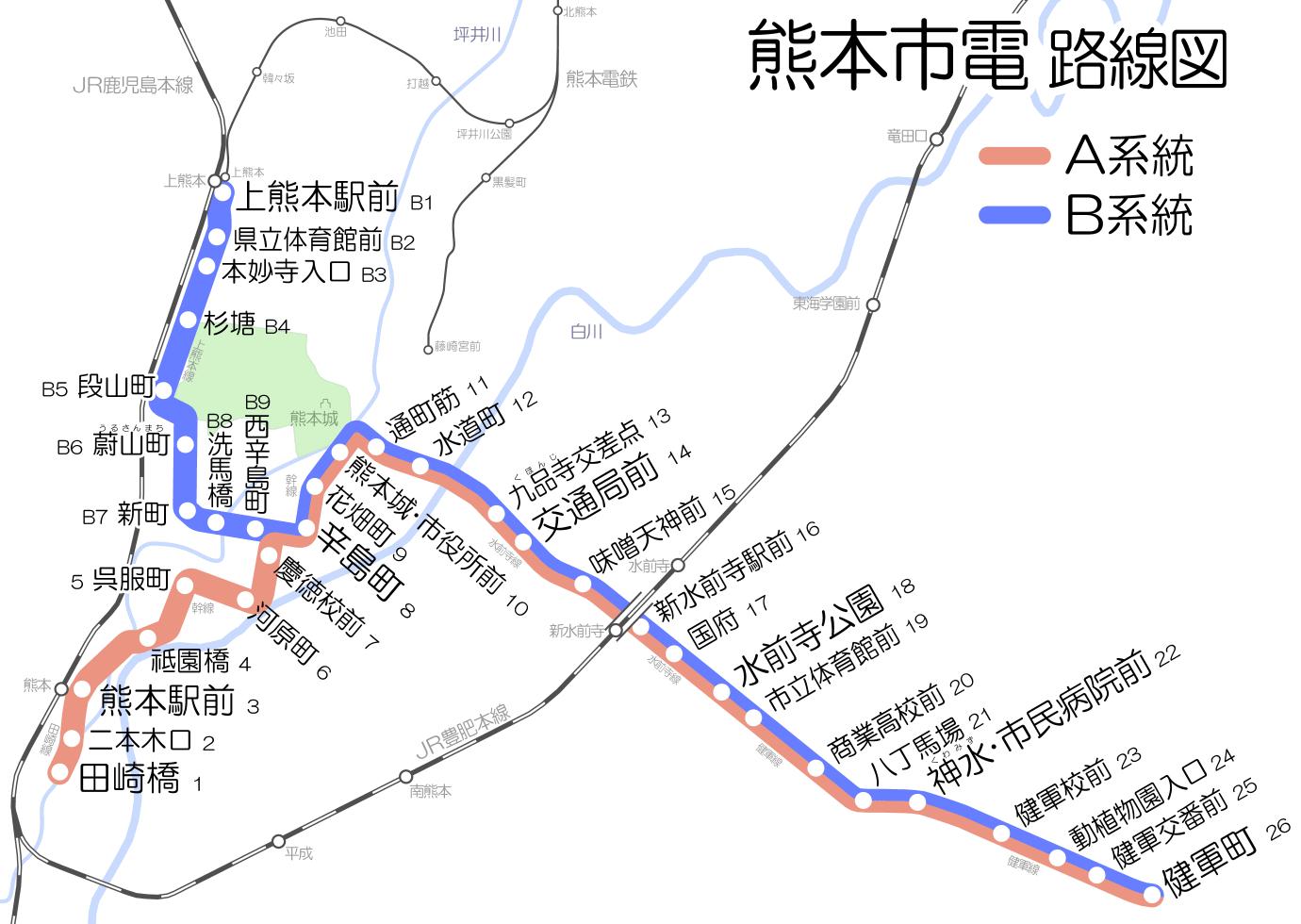 熊本市電A系統 - Wikipedia