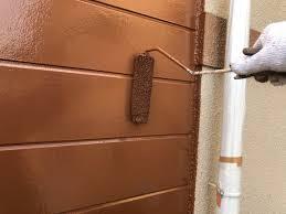 大分市森町|A様邸|外壁中塗り・上塗り作業状況|街の外壁塗装やさん大分店