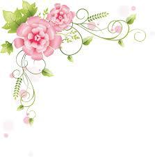 花のイラスト『コーナーライン(角)』/無料のフリー素材集【百花繚乱】