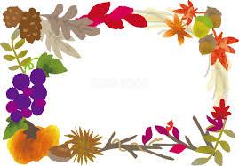 秋がいっぱいフレーム飾り枠無料イラスト/秋52816   素材Good