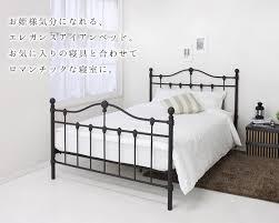 値引 日本製 カントリー調 姫系 ベッド ダブル (ボンネル&ポケット ...