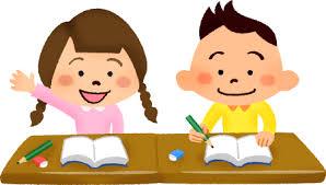 小学校の授業で勉強する子供たちの無料イラスト | フリーイラスト素材 ...