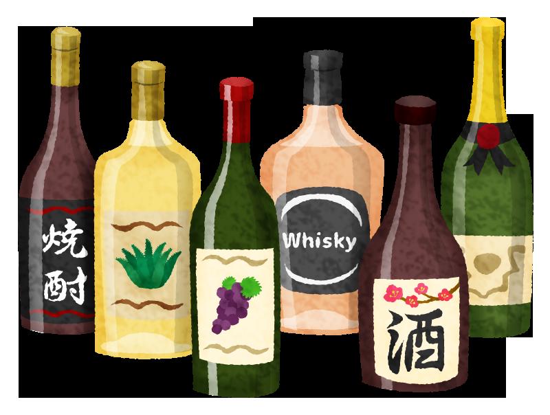 お酒 / アルコール飲料の無料イラスト   フリーイラスト素材集 ジャパ ...