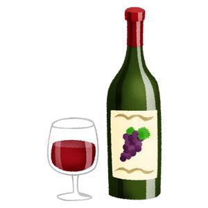 赤ワインの無料イラスト | フリーイラスト素材集 ジャパクリップ
