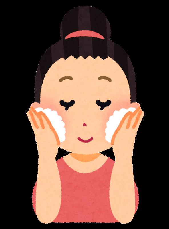 洗顔をする女性のイラスト | かわいいフリー素材集 いらすとや