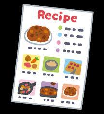 レシピのイラスト | かわいいフリー素材集 いらすとや