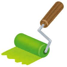 塗装用ローラーのイラスト | かわいいフリー素材集 いらすとや