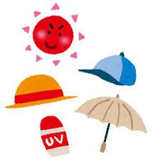 日焼けのイラスト「日焼け対策グッズ」 | かわいいフリー素材集 いらすとや