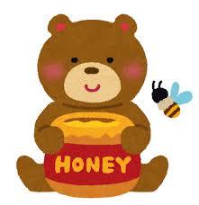 ハチミツとクマとミツバチのイラスト | かわいいフリー素材集 いらすとや