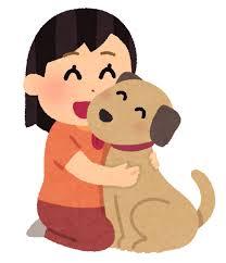 犬と女の子のイラスト(ペット) | かわいいフリー素材集 いらすとや