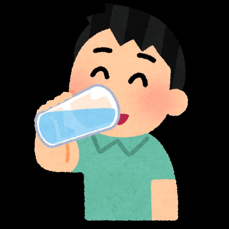 水分補給をする人のイラスト(男性) | かわいいフリー素材集 いらすとや