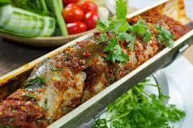ร้านอาหาร The Home อุบล: ทีเด็ดอีสาน:หลามปลาช่อน