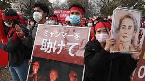 ミャンマー国軍のクーデターに抗議するデモ、東京や大阪で - YouTube