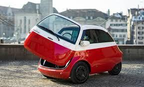 前から乗り降りできる電気自動車「Microlino」、東京モーターショーに ...