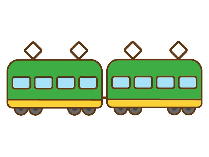 かわいい電車のイラスト   イラスト無料・かわいいテンプレート