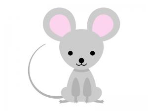 かわいらしいネズミのイラスト | イラスト無料・かわいいテンプレート