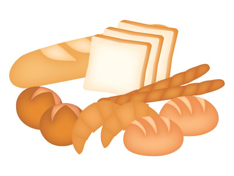 いろいろなパンのイラスト | イラスト無料・かわいいテンプレート