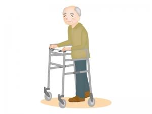 歩行器とお年寄りのイラスト | イラスト無料・かわいいテンプレート