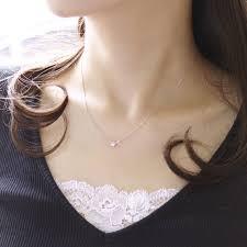 4月誕生石ネックレス ダイヤモンド0.1ct エターナル ネックレス ...