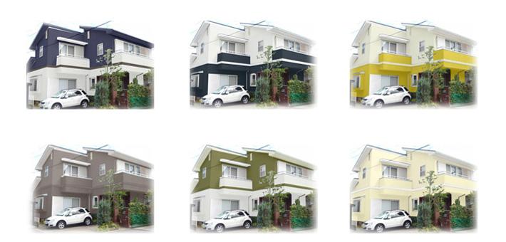 屋根・外壁塗装カラーシミュレーション|塗り替えはペイントホームズ