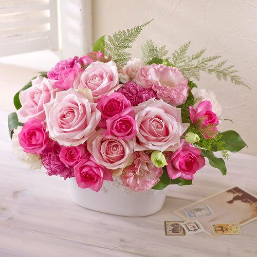 アレンジメント「ローズガーデン(ピンク)」 花・花束を贈るフラワー ...