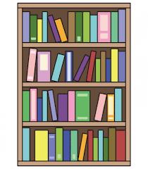 本棚に本が乱雑に入ったイラスト - 無料イラストのIMT 商用OK、加工OK