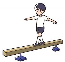 平均台を渡る子供のイラスト - 無料イラストのIMT 商用OK、加工OK