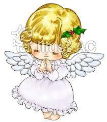 お祈りする天使の子供イラスト - No: 1286608/無料イラストなら ...